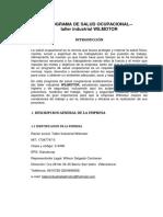 Elaboración del Programa de Salud Ocupacional