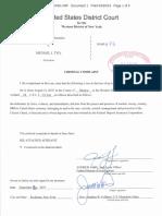 Michael Tyo Arrest Affidavit