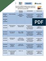 Cronograma de Acompañamiento 2019-2020