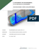 Heat Exchanger Using Solidworks