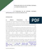 Analisis Del Impacto de La Tecnologia en Los Sistemas Contables Empresariales en La Ciudad de Arequipa