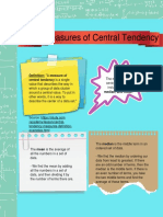 the measures of central tendency