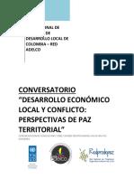 desarrollo eocnomica local y conflicto