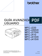 Manual impresora Brother mfc j220