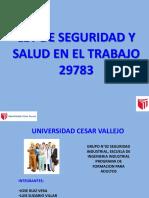 Exposicion de La Ley Sst 29783