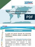 Educación financiera migrantes