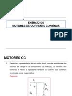 Aula de Exercícios Motores CC Com Respostas