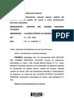 Sentencia contra Subsecretario Claudio Alvarado Andrade