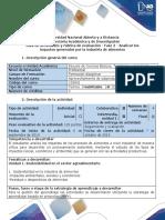 Guía de Actividades y Rúbrica de Evaluación - Fase 2 - Analizar Los Impactos Generados Por La Industria de Alimentos