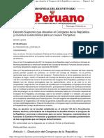 A Documento Disolucion Del Congreso Don Martin