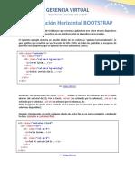 Grids Apilación Horizontal en Bootstrap