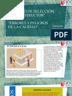 Diapositivas Proceso de Selección Del Constructor