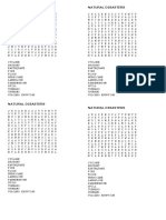 Natural Disasters Word Search Puzzle