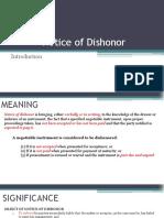 Nego Notice of dishonor