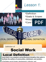 The Discipline of Social Work