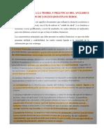 Resumen de Analisis Financiero 1ra Clase}