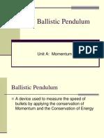 8 the Ballistic Pendulum