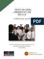 Oral Presentation Skills for Martin