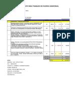 Cotizacion de Trabajos Adicionales Puertas Giratorias