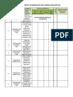 Cv-plan de Seguimiento Esquema de Producto- Curriculum Vitae - Rubrica-Inglés II - 2019