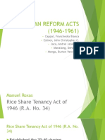 agrarian reform act report