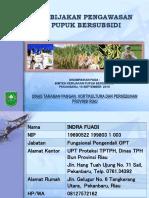 Kebijakan Pupuk Perindag Riau 2019
