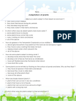 Soal Bahasa Inggris Adaptation of Plants