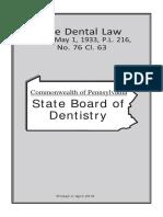 Dental Act 2018