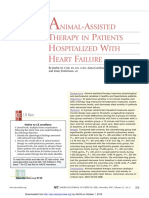 Animal assisted theraphy in patients hospitalized with heart faillure