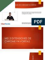 Mis 3 Extensiones Favoritas