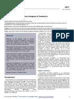 Ketamine for Postoperative Analgesia in Paediatrics