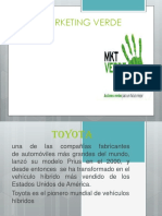 Marketing Verde Toyota Prius