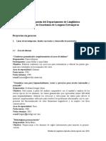 Listado de Proyectos Linguisticos