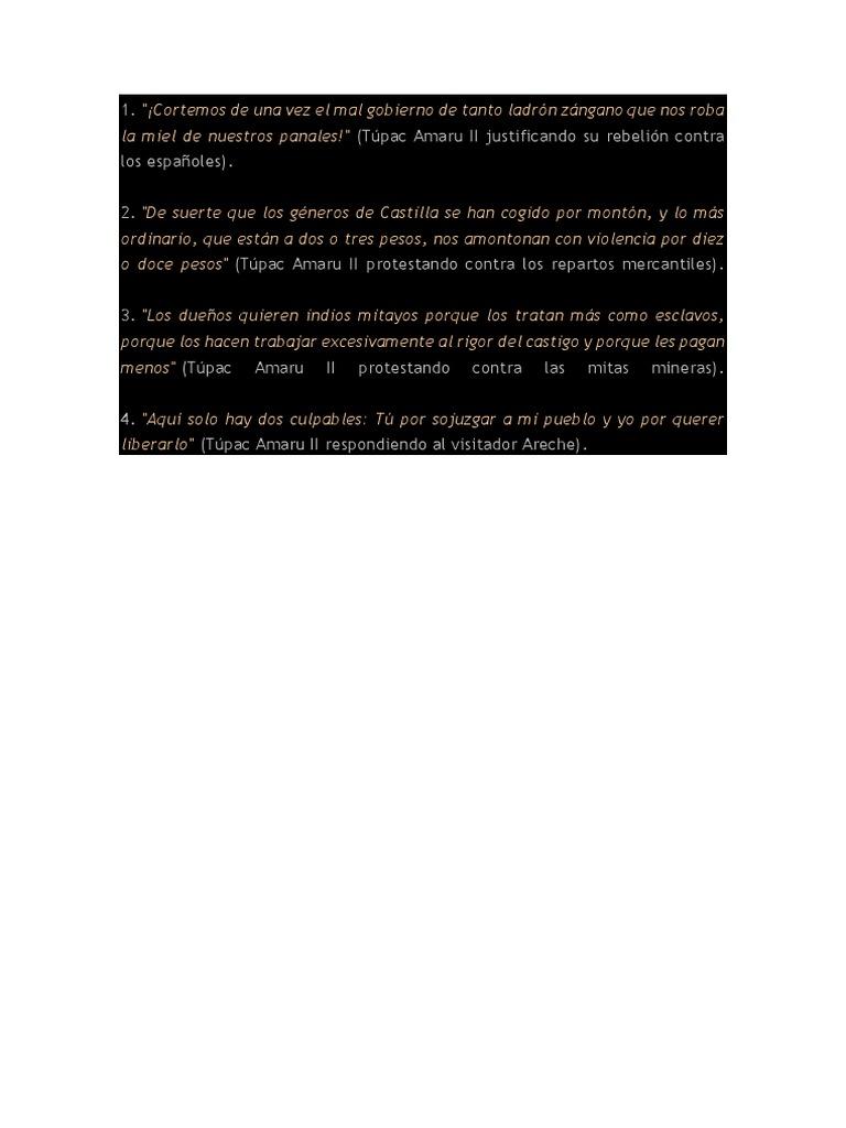 Frases De Tupac Amaru Ii Jose Idocx