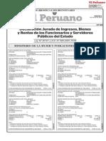 Diario Oficial El Peruano Declaraciones 2019-07-09