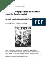 Originile Propagandei Anti-Familie Apariția Feminismului - Baricada