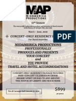 MidAmerica Concert Only Residency- March-June-2020