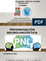 PROGRAMACION NEUROLINGUISTICA ppt