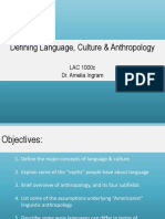 Week 2-Intro to Language Culture and Anthro