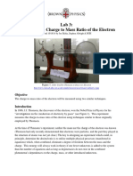Charge To Mass Ratio of the Electron