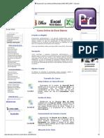 Temario Del Curso de Microsoft Excel Básico