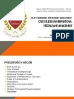 International Restaurant Management Case Studies