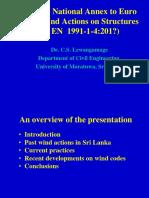 Sri Lanka National Annex Euro Code1