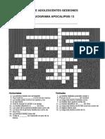 Crucigrama 12 y 13