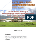 PPP and Dry Port - Myanmar Presentation