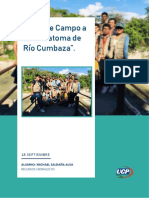 VISITA DE CAMPO BOCATOMA CUMBAZA - TARAPOTO