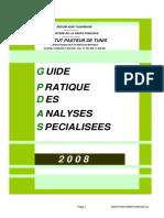 Guide Des Analyses Spécialisées