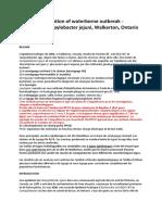 Article 10-Contamination de l'Eau