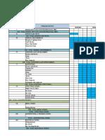 Equipment Schedule