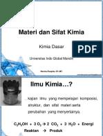 Materi Dan Sifat Kimia